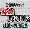 緊急取調室3主題歌ED/OPテーマ挿入歌・サントラ(BGM)音楽情報